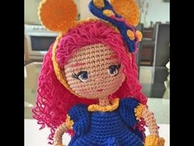 Como tejer cuerpo y vestido de muñeca Valentina amigurumi By Petus (2.7) SEGUNDA PARTE