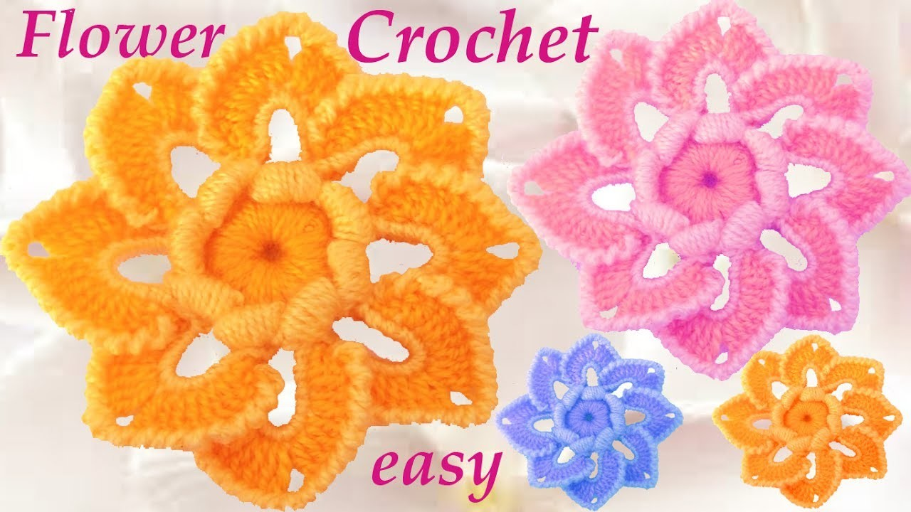 Como tejer flores a Crochet como hacer flores Tutorials