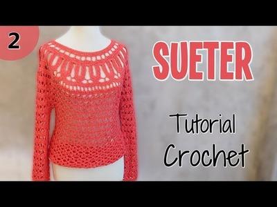 Como tejer un sueter en crochet (2.2)