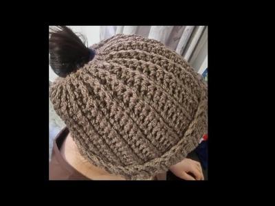 Gorro para cabello largo modelo #3 muy fácil y rápido