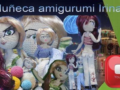 Muñeca amigurumi Irina. Parte 1. Cabeza.