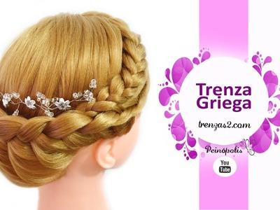 Trenza Griega con Peinados de fiesta para cabello largo - Recogidos faciles y rapidos