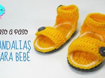 Tutorial Sandalias unisex para bebé a crochet. todas las tallas
