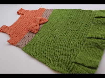 Vestido Crochet de 4 a 5 años paso a paso