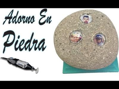 ADORNO PIEDRA incrustación de fotografías con  resina  mototool dremel decoracion diy tutorial