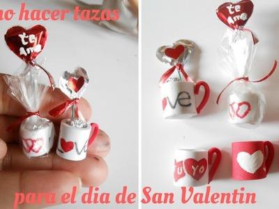 Como hacer tazas   Regalo de San Valentin