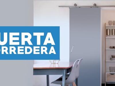¿Cómo instalar una puerta corredera?