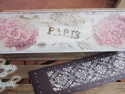 Como reciclar una caja de vino con decoupage y pinturas