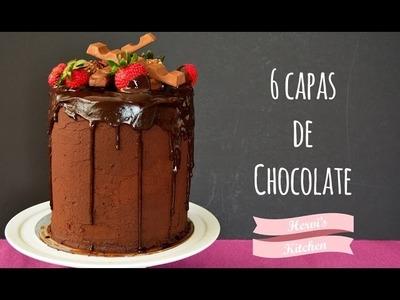 Decora un pastel de chocolate | Pastel de 6 capas | Básicos de repostería