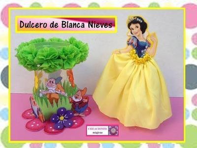 ♥♥Dulcero de Blanca nieves con botella de plástico-Creaciones mágicas♥♥