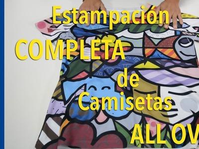 Estampación completa de camisetas All Over por SUBLIMACIÓN