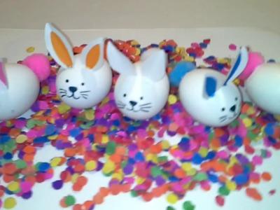 Huevos confetti en forma de conejo. confetti eggs.easter bunny.