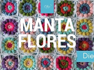 MANTA GRANNY FLOR | DIESTRA | CHIC DIY