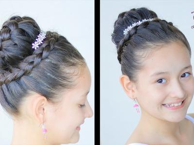 Peinado para Primera Comunión de Niña | Peinado Elegante con Corona