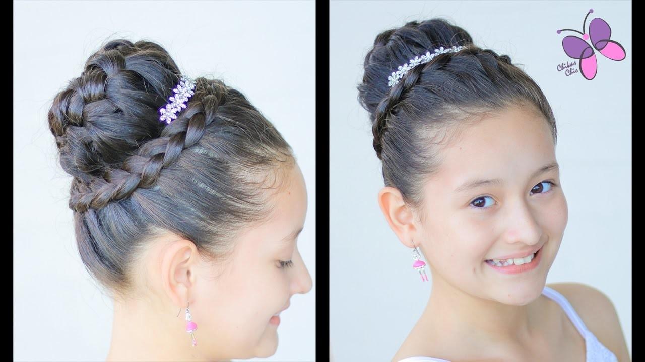 Peinado para Primera Comunión de Niña   Peinado Elegante con Corona