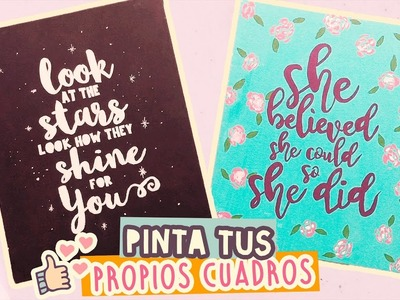PINTA TUS PROPIOS CUADROS & DECORA TU HABITACIÓN| |#MujeresYouTube| COOKIES IN THE SKY