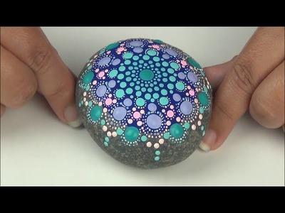 Pintando Paso a Paso mandalas en piedra