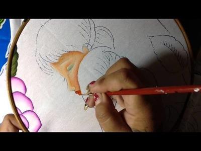 Pintura en tela mama # 2 con cony