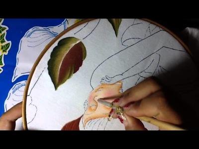 Pintura en tela mama # 3 con cony