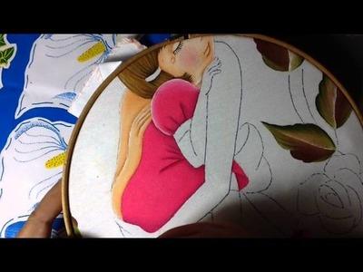 Pintura en tela mama # 4 con cony