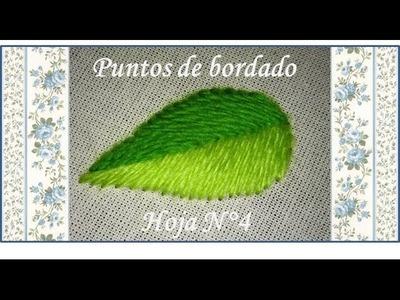 ♥ Punto espina ♥ Puntos de bordado ♥ Hoja N°4 ♥. ♥ Fishbone stitch ♥
