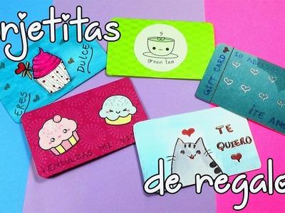 Sorprende a tus seres queridos! Tarjetitas de Regalo, lindas, fáciles y económicas - DIY GIFT CARDS