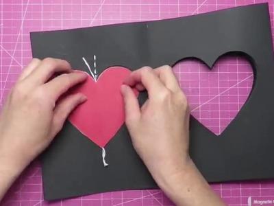 Tarjeta de amor con efecto 3D