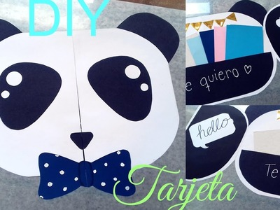 ???? Tarjeta de PANDA Súper Bonita. Detalles para regalar