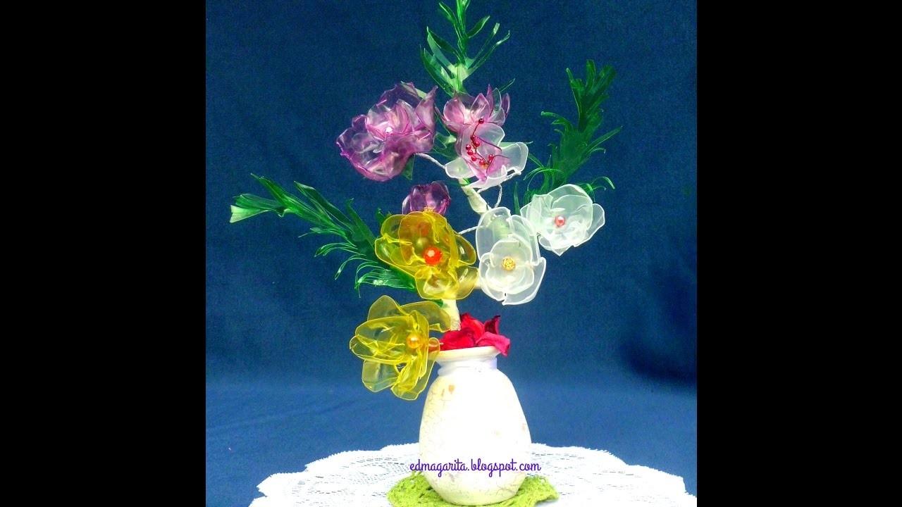 Tutorial Arreglo Rosas Cristal (Botella de Plastico)
