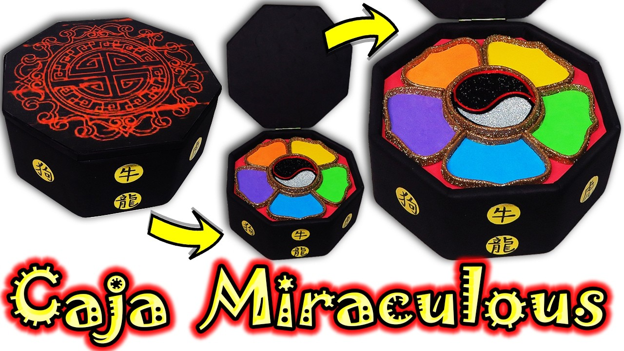 ♥ Tutorial: Caja Miraculous o Cofre del Maestro Fu (Miraculous Ladybug) ♥