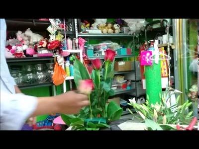Alto !!!.  Para principiantes solamente: como hacer arreglo floral.