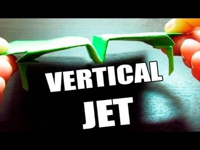 Aviones de papel que vuelan mucho MODELO VERTICAL JET (Muy fácil)