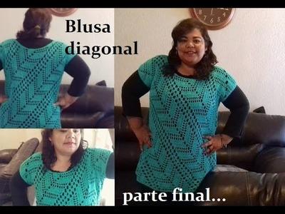 Blusa diagonal (parte final)