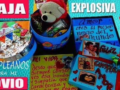 Caja Explosiva de Cumpleaños para  mi Novio.a - Creaciones Betina