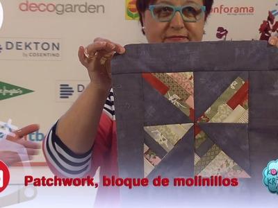 Crear un motivo de molinillos para una colcha de patchwork
