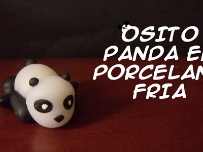 Escultura de un osito panda en Porcelana Fría