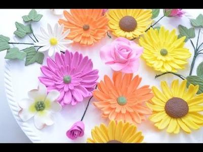 Flores en Pasta Goma
