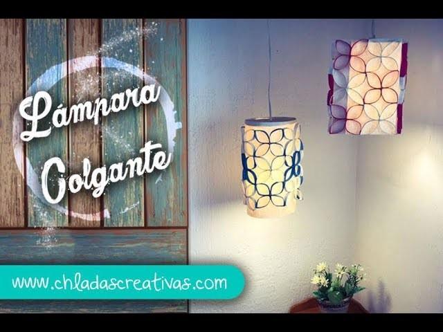 Lámpara  Colgante decorativa :: Cartón-Rollos de papel de Baño :: ChuladsCreativas