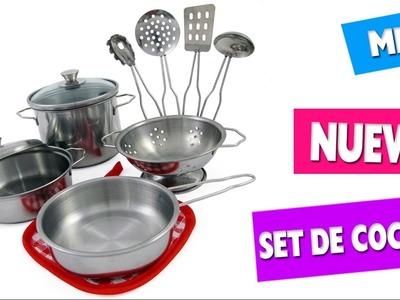 """Mi Nuevo Set de cocina para niños que """"si funciona"""" - mini revisión"""