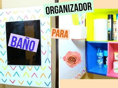 Organizador para el  baño de cartón