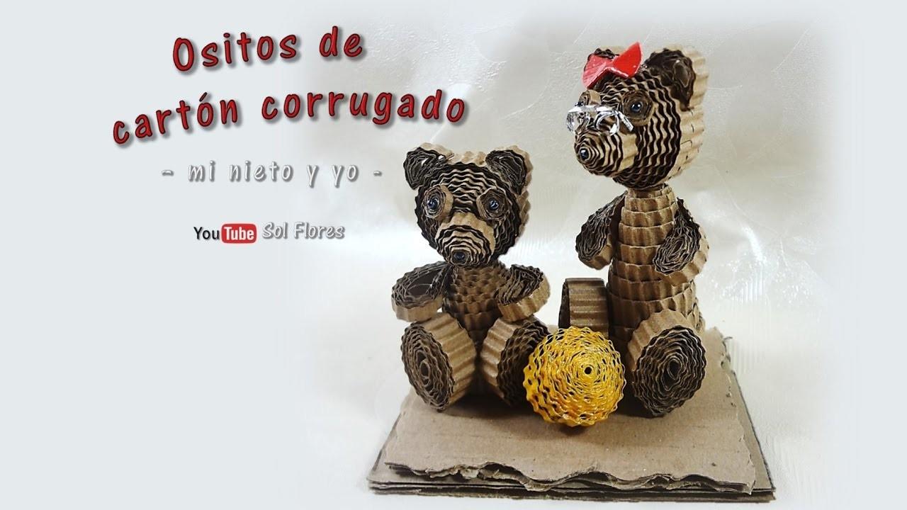 Ositos de cartón corrugado – mi nieto y yo - Corrugated cardboard beads
