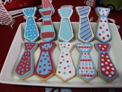RECETA PARA EL DIA DEL PADRE: Como hacer galletas decoradas en forma de corbata