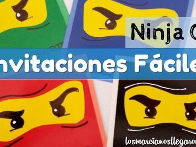 Tarjetas fáciles de Papel. Motivo Ninjago - LOS MARCIANOS LLEGARON