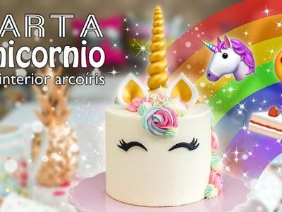 Tarta Unicornio con interior de arcoíris | Unicorn Cake | Quiero Cupcakes!