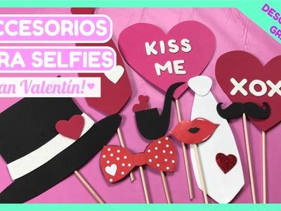 ACCESORIOS PARA SELFIES - San Valentín (Imprimibles gratis!)