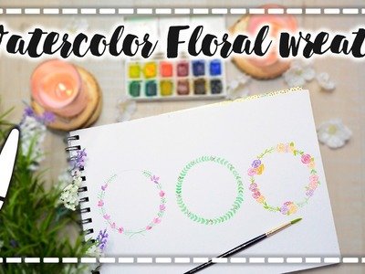 Acuarelas básicas -  Watercolor Floral Wreath - A dibujar #01