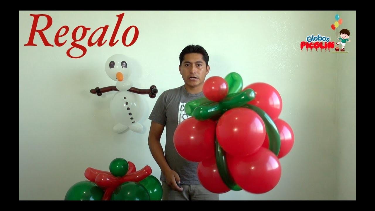 Caja de regalo con globos  ideas para navidad #82