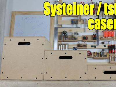 Cajas de herramientas apilables caseras. Systainer. Tstak. L-boxx