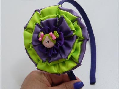 Como Hacer flores grandes de Tela, How to make Fabric flower,manualidades la hormiga
