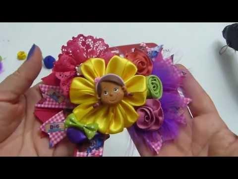 Cómo Hacer Moños De Listón Gros Flor Fácil En Cinta Lazos